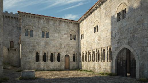 Reconstrucción 3D edificio Museo Arqueolóxico Provincial de Ourense