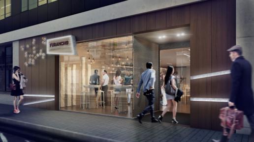 visualización 3D restaurante
