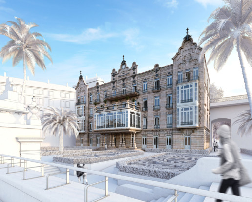 reconstrucción 3D Balneario de las Burgas Ourense