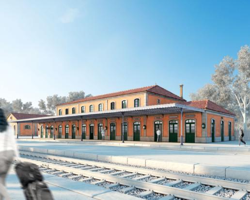 reconstrucción 3D Estación de Canedo Ourense