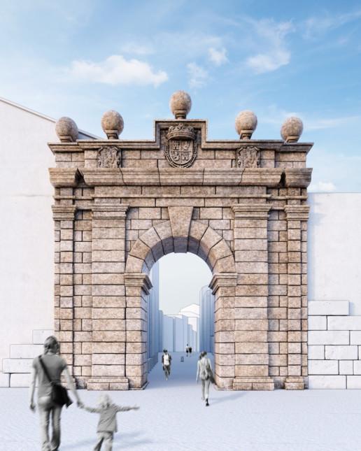 reconstrucción 3D Porta da Aira Ourense