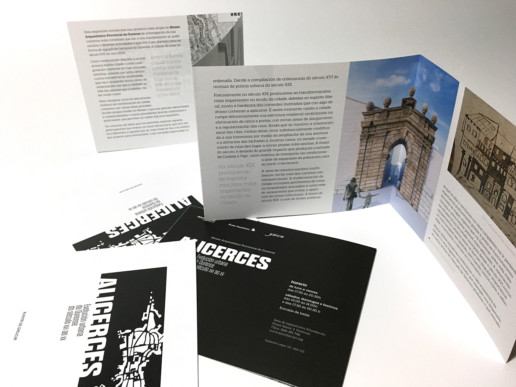 Folleto informativo exposición Alicerces