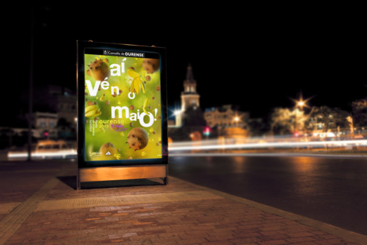Diseño de Mupi campaña Maios 2015 Ourense