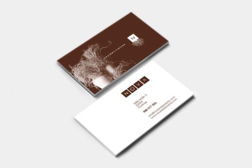 tarjetas de visita restaurante NOVA