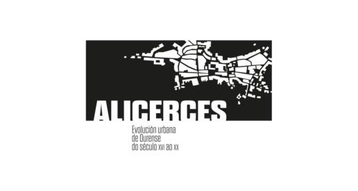 Diseño identidad exposición Alicerces